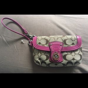 Coach wristlet - never used NEW